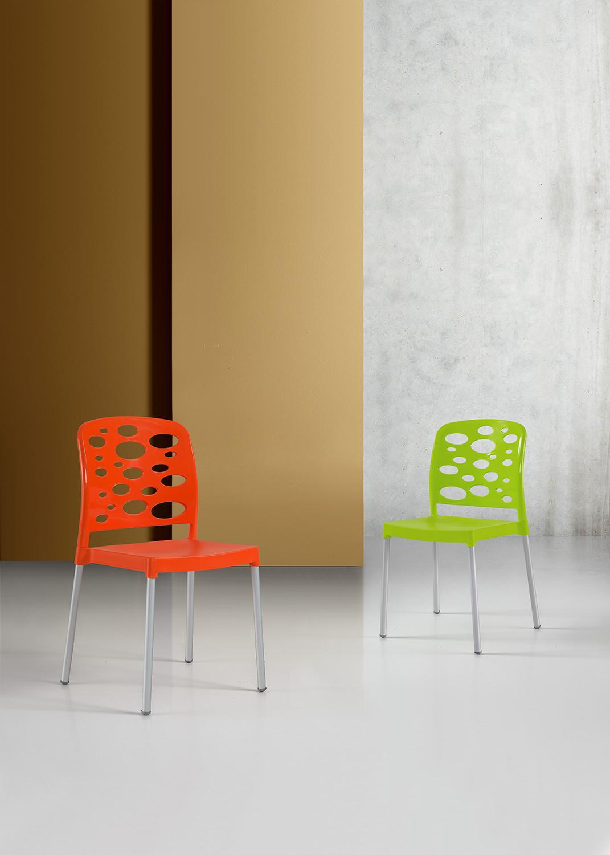 Cadeira Bubble, Perna Alumínio