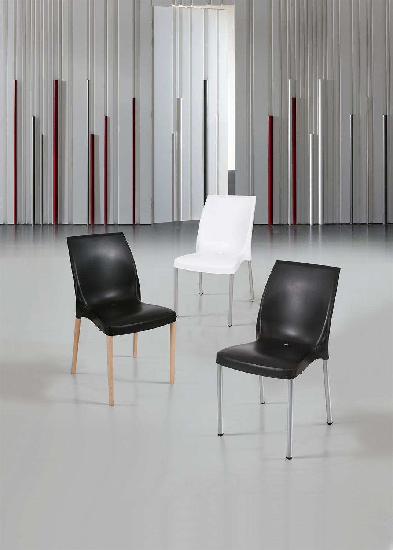 Cadeira Cindy, Perna Alumínio