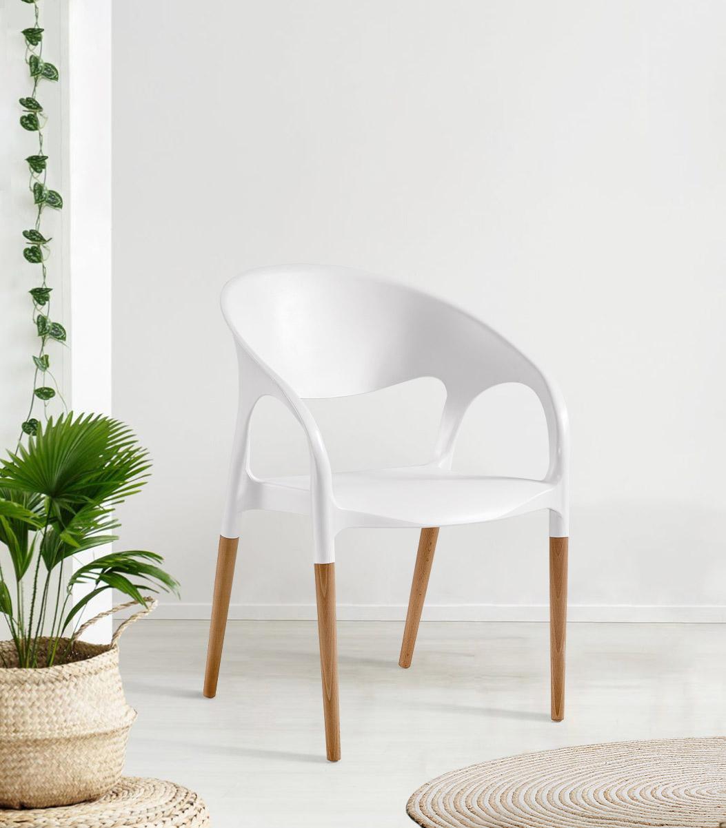 Cadeira Luna, Perna Madeira
