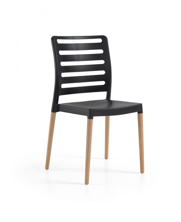 Cadeira Diva, Perna Madeira