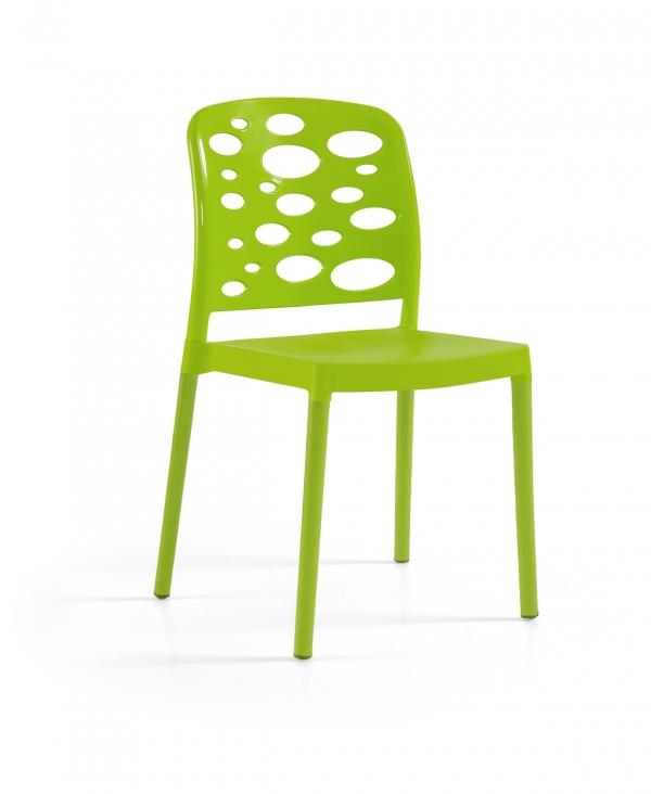 Cadeira Bubble, Perna Plástica