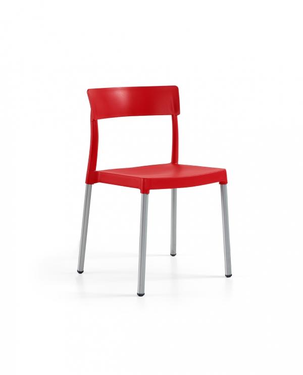 Cadeira Lilly, Perna Alumínio