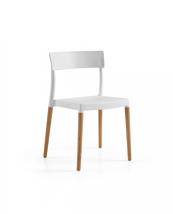 Cadeira Lilly, Perna Madeira